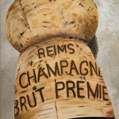 """""""Champagnerkorken"""" Öl auf Leinwand 50x70cm 390€"""