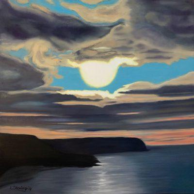 """""""Himmel über der Bucht"""" Öl auf Leinwand 80x80cm 380€"""