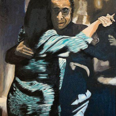 """Tango 2"" Öl auf Leinwand 50x70cm 320€ ""Tango 1-3"" als Triptychon 680€"