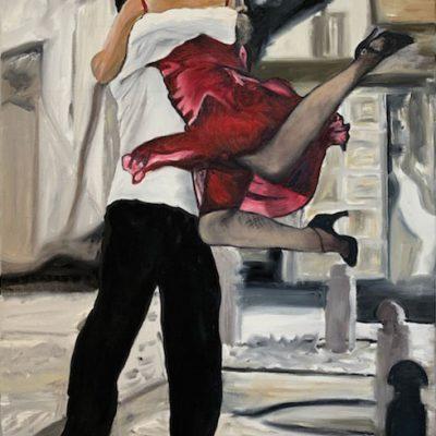 """Tango 3"" Öl auf Leinwand 50x70cm 320€  ""Tango 1-3"" als Triptychon 680€"