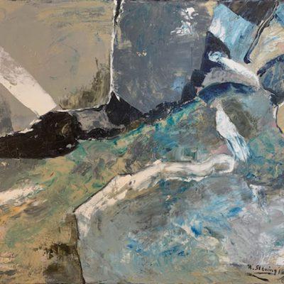 """""""Komposition mit Steinen"""" Öl auf Leinwand 60x50cm 320€"""