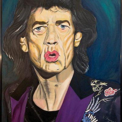 """Mick J"" Öl auf Leinwand 80x100cm 450€"