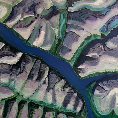 """""""Der Fluss""""  Öl auf Leinwand 90x90cm 440€"""