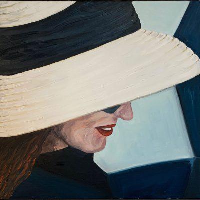 """""""Frau mit Hut""""  Öl auf Leinwand 60x60cm 320€"""