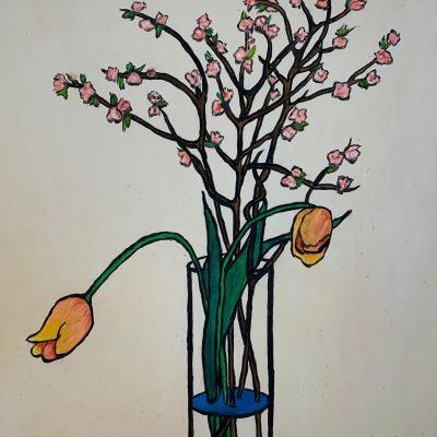 """""""Zwei Tulpen""""  Öl auf Leinwand 50x60cm 320€"""