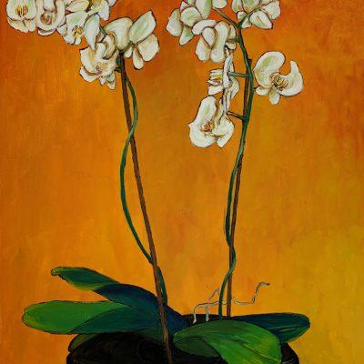 """Orchidee""  Öl auf Leinwand 50x60cm 320€"