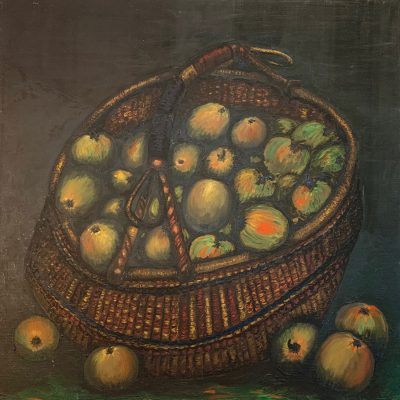 """Korb mit Äpfeln""  Öl auf Leinwand 60x60cm 320€"