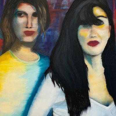 """""""Zwei Frauen""""  Öl auf Leinwand 60x80cm 360€"""