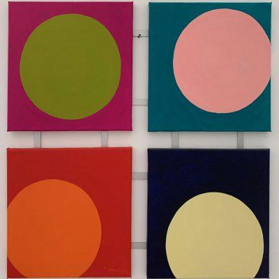"""""""Komposition mit Kreisen""""  Öl auf Leinwand 64 x 64cm 390€"""