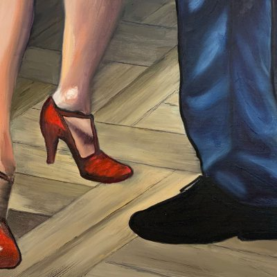 """Tango tanzende Füße""  Öl auf Leinwand 50x30cm 190€"