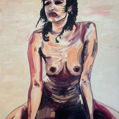 """""""Frau im Sand""""  Öl auf Leinwand 54x78cm 390€"""