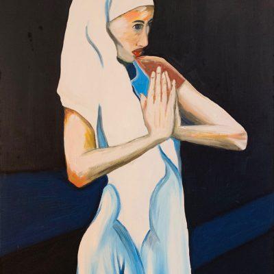 """""""Frau in Weiß""""  Öl auf Leinwand 50x70cm 320€"""