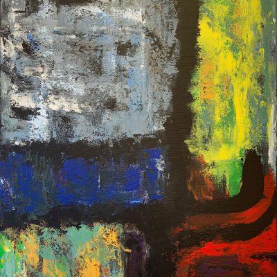 """Komposition""  Acryl auf Leinwand 70x100cm 390€"